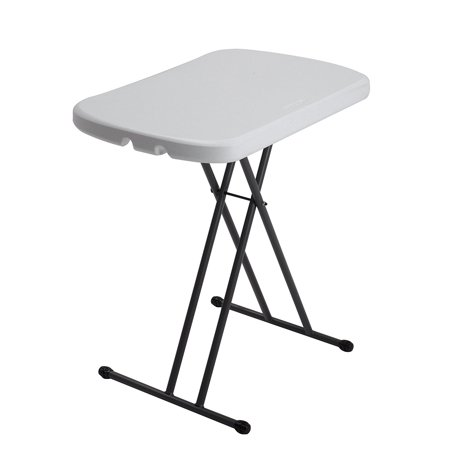 Lifetime 80251 Height Adjustable Folding Personal Table, 26 Inch, White