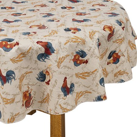 Better Homes And Gardens Rooster Peva Tablecloth