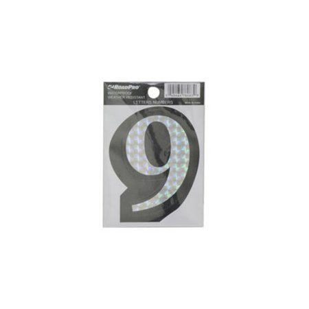 RoadPro 78083D 9 Prism Style Adhesive Number - image 1 of 1