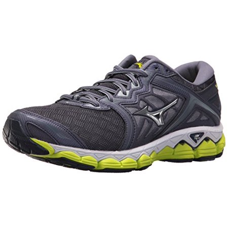 Mizuno Men's Wave Sky Running Shoe, Gray Stone-Silver, 7 D US