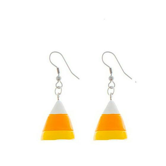 e0a03609c Ganz - Candy Corn Halloween Dangle Earrings by Ganz - Walmart.com