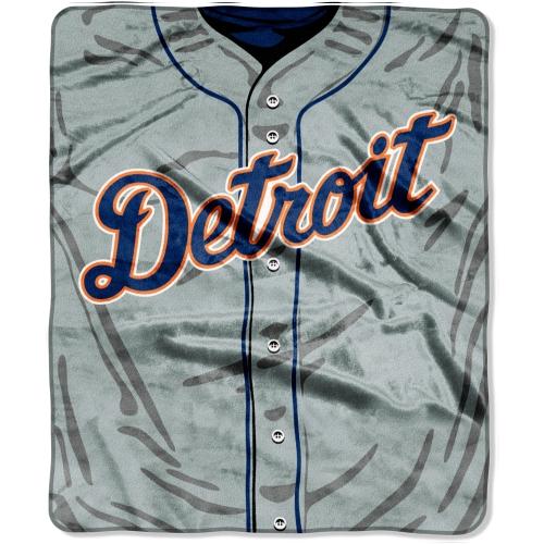 """Detroit Tigers 50"""" x 60"""" Plush Jersey Blanket - No Size"""