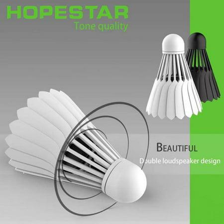 Badminton Shape Mini Portable Sports Stereo Bass BT Speaker Sound Box White - image 4 of 7