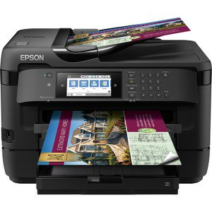 Epson WorkForce WF-7720 Wireless Wide-format Color Inkjet Printer with Copy, Scan, Fax, Wi-Fi Direct and Ethernet ()