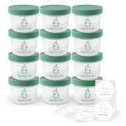 Sage Spoonfuls Baby Food Storage Container, 4 oz, 12 pack