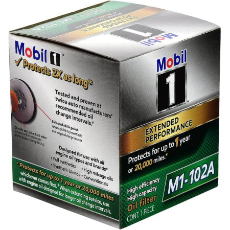 Mobil 1 Oil Filter >> Mobil 1 M1 102a Extended Performance Oil Filter
