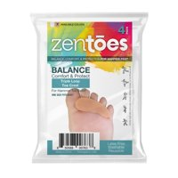 ZenToes Hammer Toe Straightener and Corrector 4 Pack Soft Gel Crests Splints