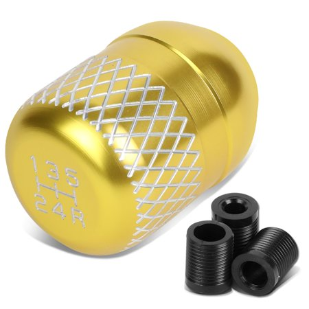 Gold Racing - Universal 5-Speed Gold Anodized Aluminum Netted Racing Shift Knob