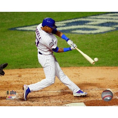 World Series Panoramic Photo - Addison Russell Game 4 of the 2016 World Series Photo Print
