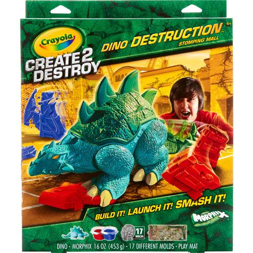 Crayola Create 2 Destroy Dino Destruction Play Set, Stomping Mall