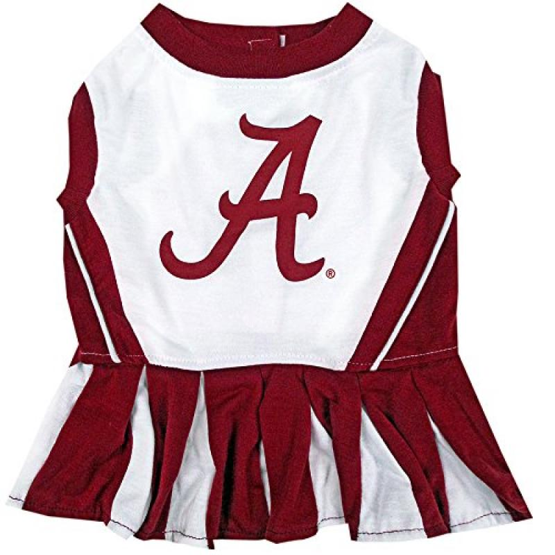 Pets First Collegiate Alabama Crimson Tide Dog Cheerleader Dress, X-Small