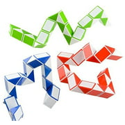 ZIOBLW 5 PCS Fidget Snake Cube Twist Puzzle Magic Snake Sensory Toys Collection Brain Teaser Socking Stuffers Party Favors Game Goodie Bags Fillers for Kids Adults Teens