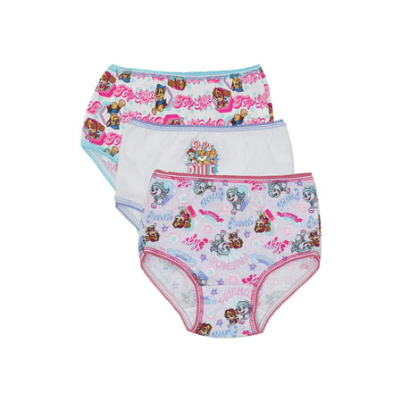 Nickelodeon PAW Patrol Everest; Skye Underwear Panties, 3 Pack 100% Cotton (Toddler Girls)