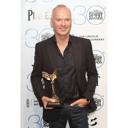 Michael Keaton Winner Of The Best Male Lead Award For Birdman In The Press Room For 30Th Film Independent Spirit Awards 2015 - Press Room Santa Monica Beach Santa Monica Ca February 21 2015 Photo By