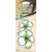 C Accessories Hawaiian Flower Tropical Breeze Hanging Tree Style Air Freshener - 3 Pack