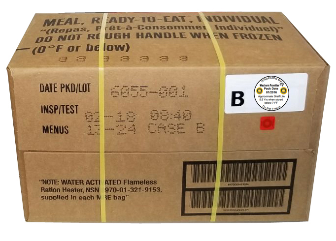 2018 MRE Meals Ready-to-Eat, Case of 12 Genuine US Military with Western Frontier's Inspection Decal by Sopako, Wornick, or Ameriqual