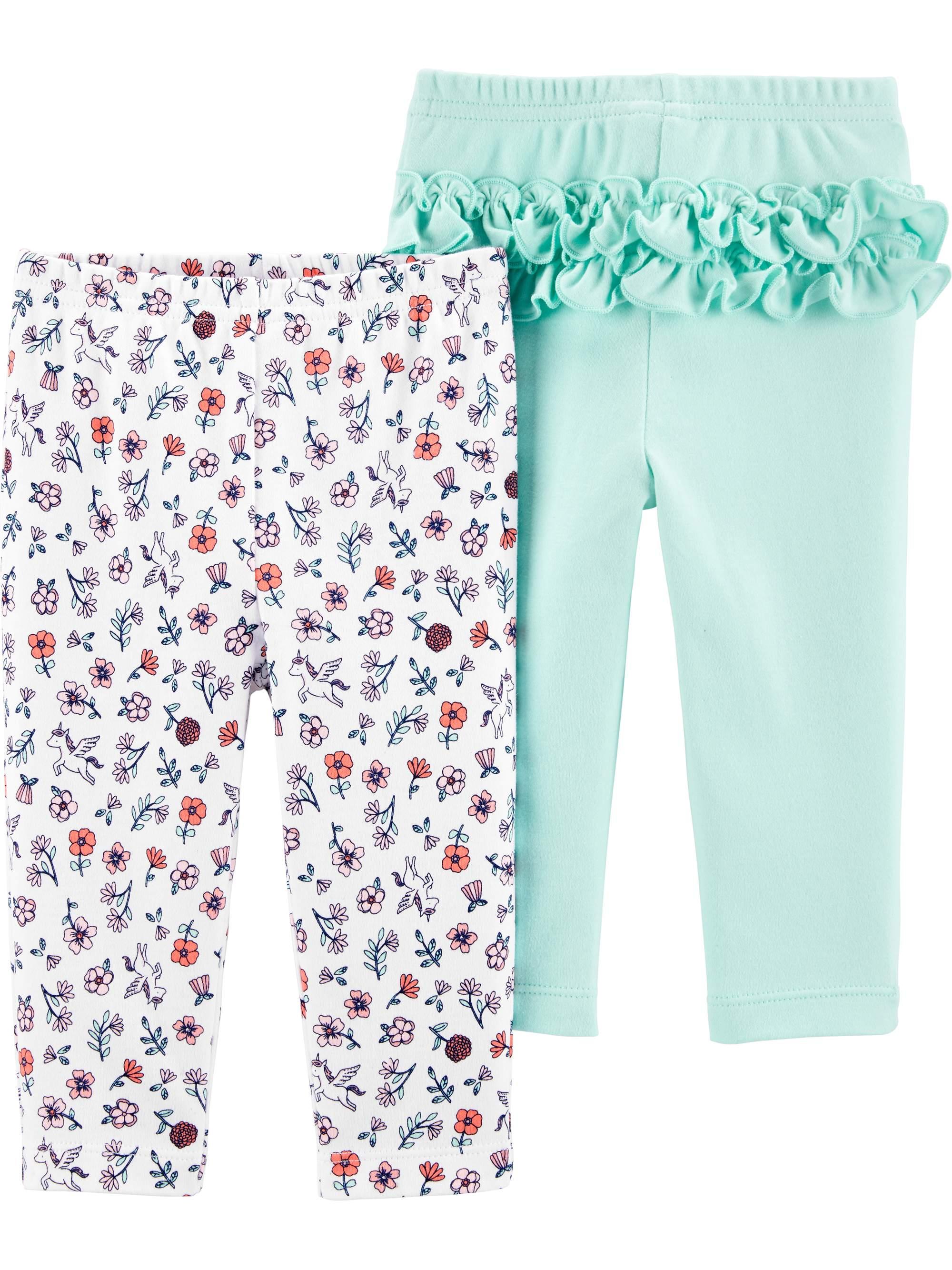 Long Leg Pant, 2 pack (Baby Girls)