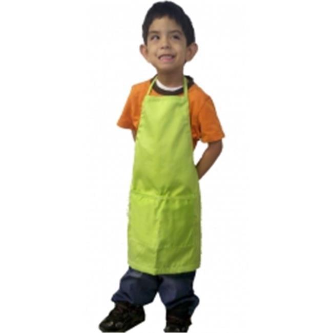 A Greener Kitchen AP020 Boys Organic Cotton Apron - Lime Green