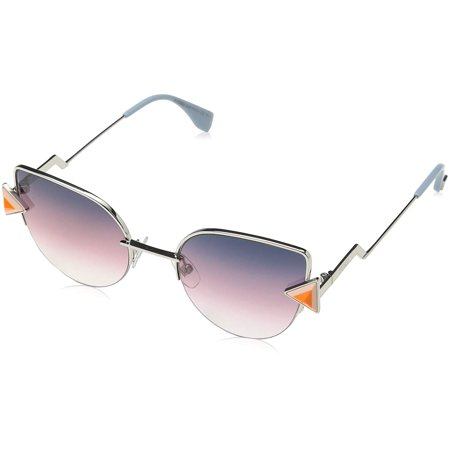 Fendi Women FF 0242/S 52 Gold/Grey Sunglasses 52mm
