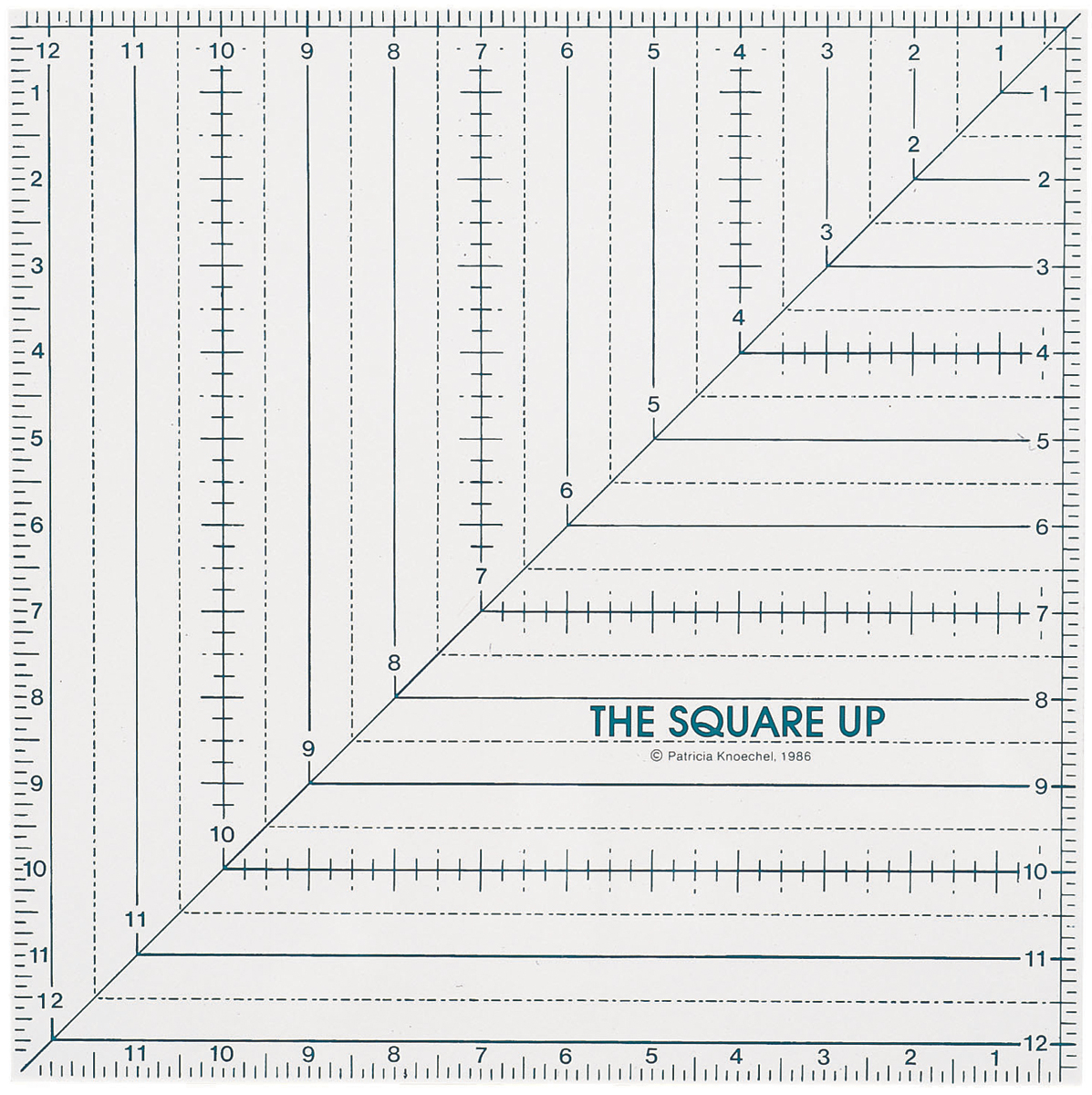 "Quilt In A Day Square Up Ruler-12-1/2""X12-1/2"""