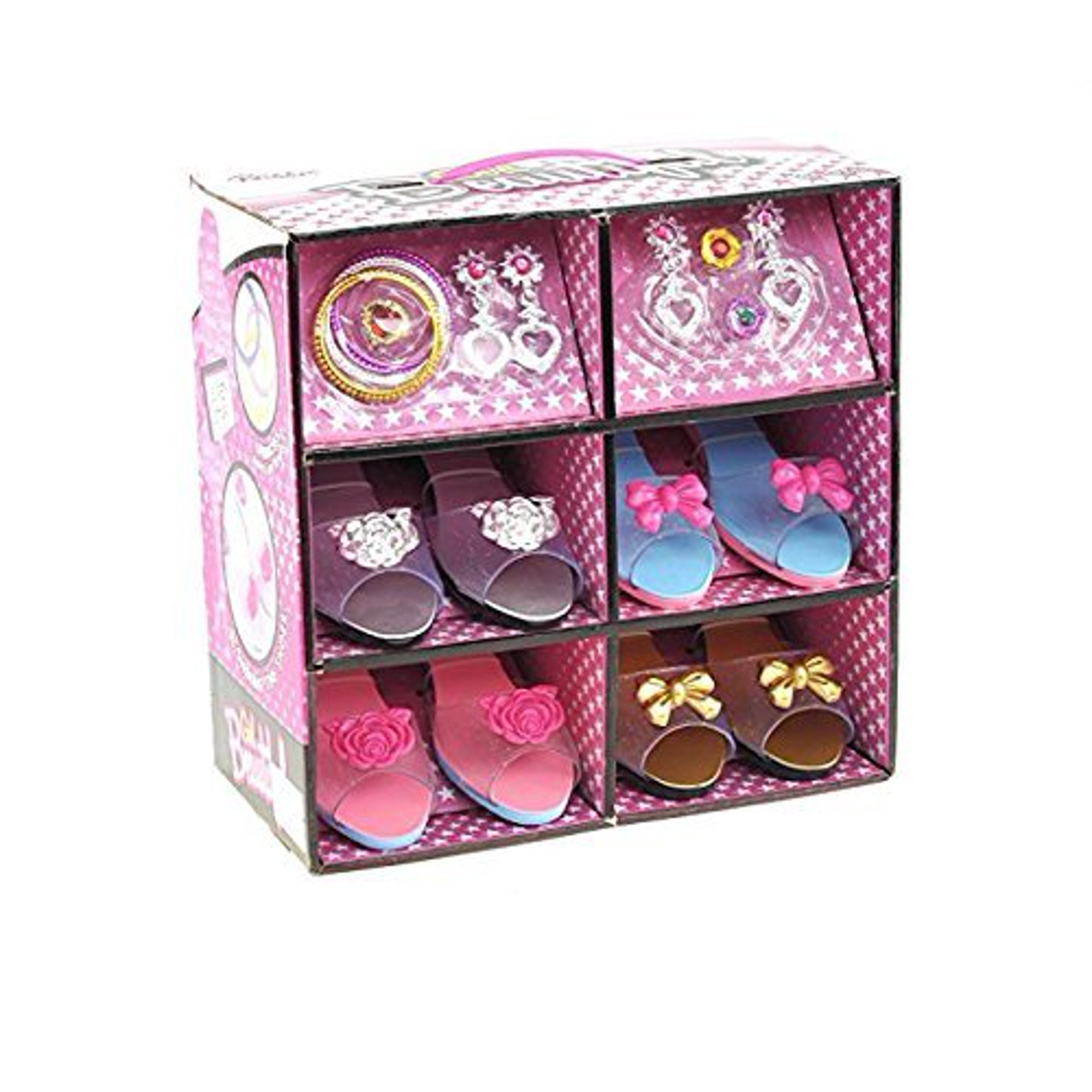 432d8c30ed6 ToyVelt Princess Dress Up Play Shoe and Jewelry Boutique (Includes 4 ...