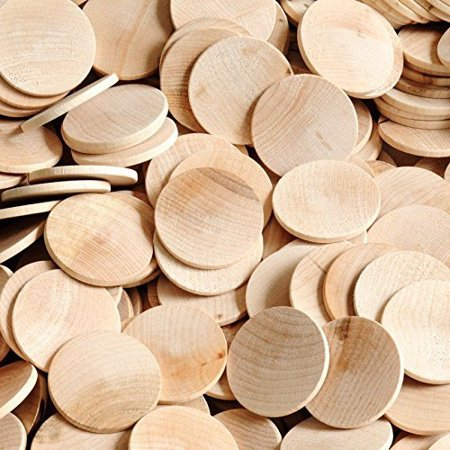 """Woodpeckers® 100 Wooden Circles Nickels 1"""" Inch"""