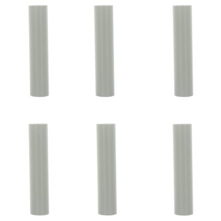 Creative Hobbies 1751 - Set of 6, 4 Inch Tall White Plastic Candle Covers Sleeves Chandelier Socket Covers ~Candelabra Base ()