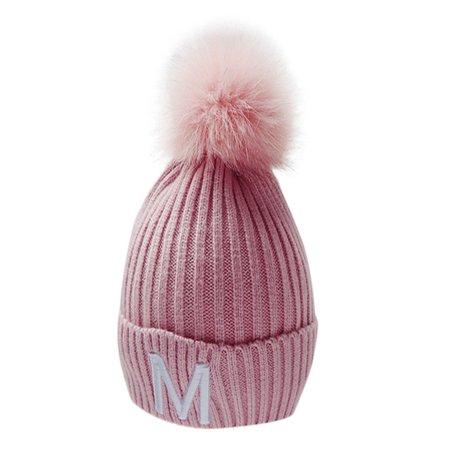 c72aeab8fc44df Infant Baby Kids Boys Girls Cute Ball Knitted Crochet Beanie Winter ...