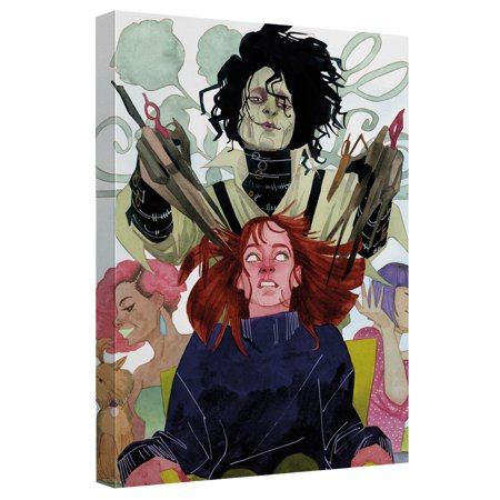 Edward Scissorhands Haircut Canvas Wall Art With Back Board