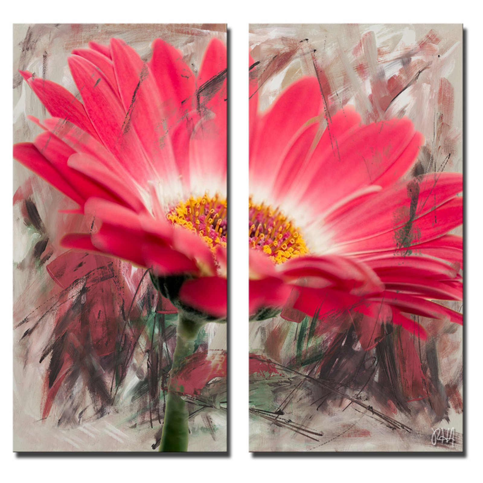 Ready2HangArt Painted Petals XLIII Canvas Wall Art - 2 pc. Set