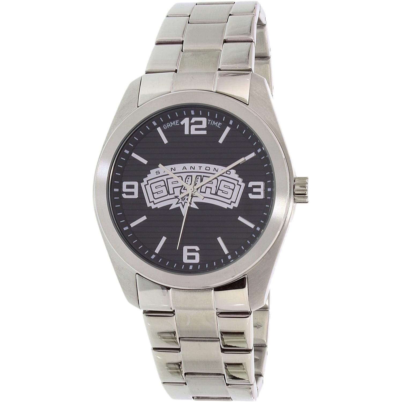 Gametime Men's Elite San Antonio Spurs NBA-ELI-SA Silver Stainless-Steel Quartz Watch