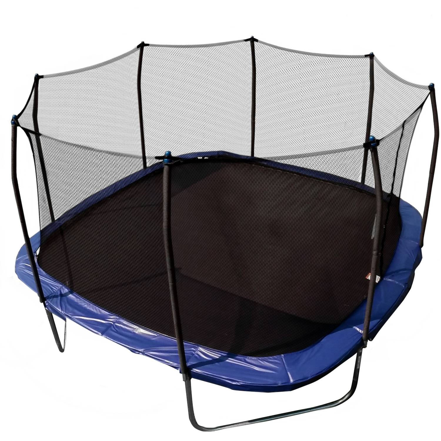 Skywalker Trampolines Square 13-Foot Trampoline, with Enclosure, Blue (Box 1 of 2)