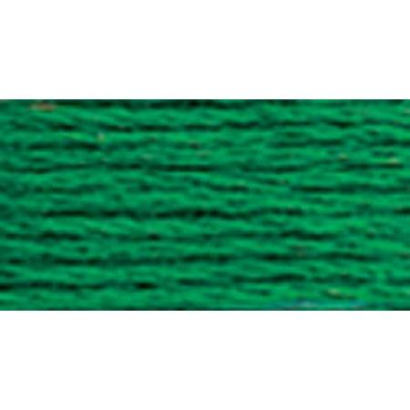DMC 8.7 Yd 6-Strand Cotton Very Dark Emerald Green Embroidery Dmc Brilliant Cotton Tatting Thread