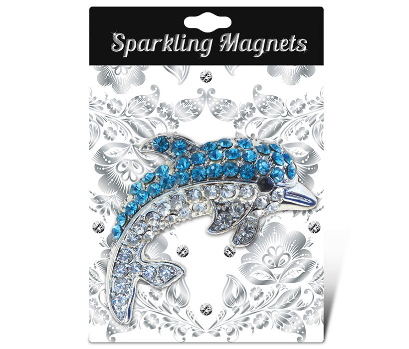 PuzzledDolphin Refrigerator Sparkling Magnets with Crystals