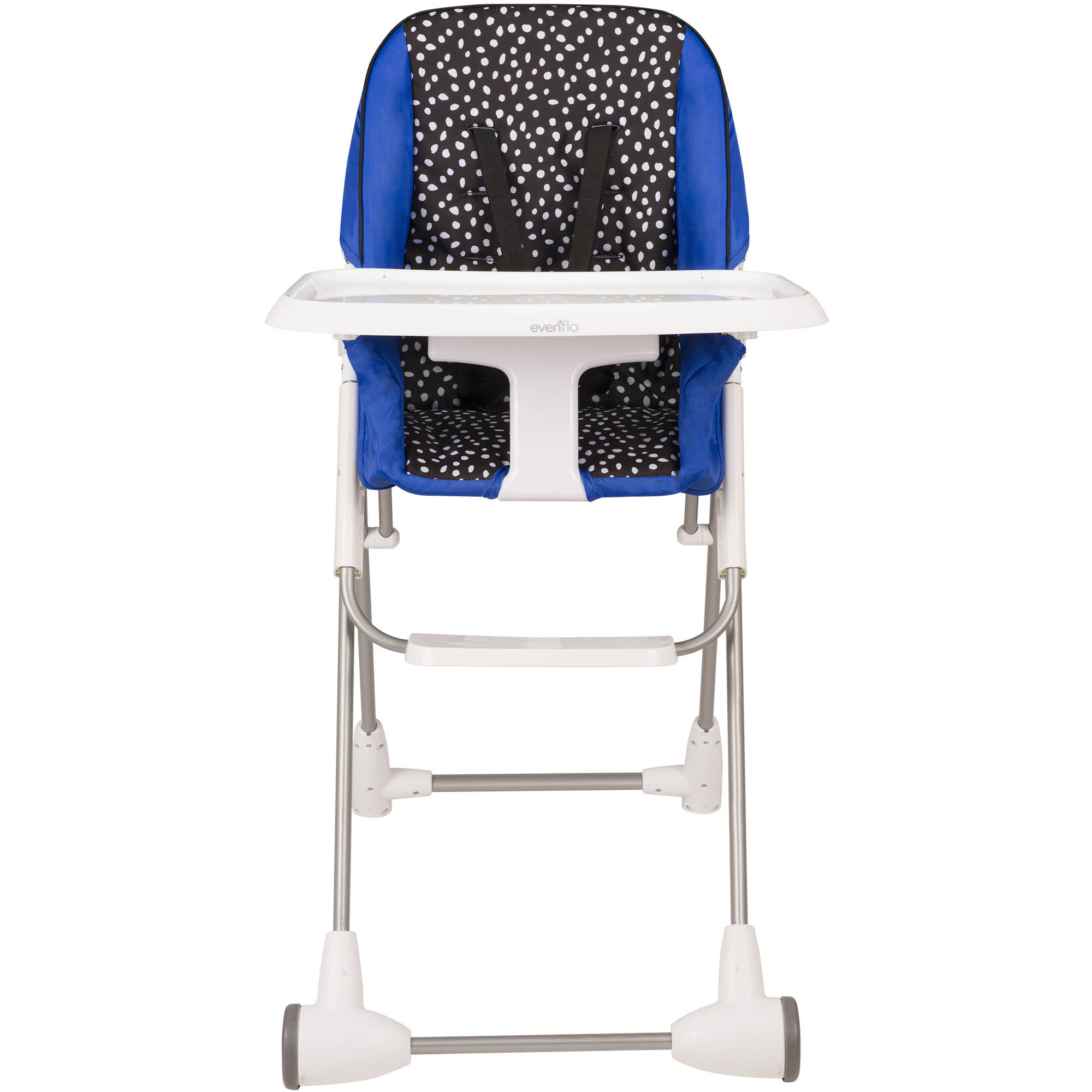 Evenflo Symmetry Flat Fold High Chair Hayden Dot Walmart