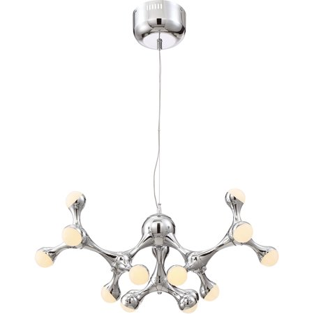 Chandeliers Light Fixtures With Chrome Tone Finish Acrylic