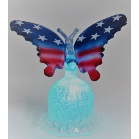 Patriotic Illuminated Glass Butterfly - 3.5