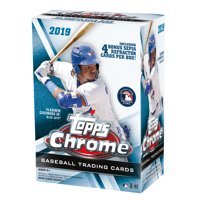 2019 Topps Chrome Baseball Blaster Box- 8 packs total | Sepia Refractor Parallel Exclusive