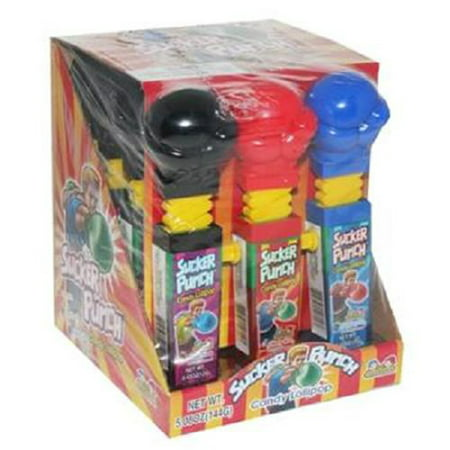 KIDSMANIA SUCKER PUNCH CANDY LOLLIPOP 0.42 oz Each ( 12 in a Pack ) for $<!---->