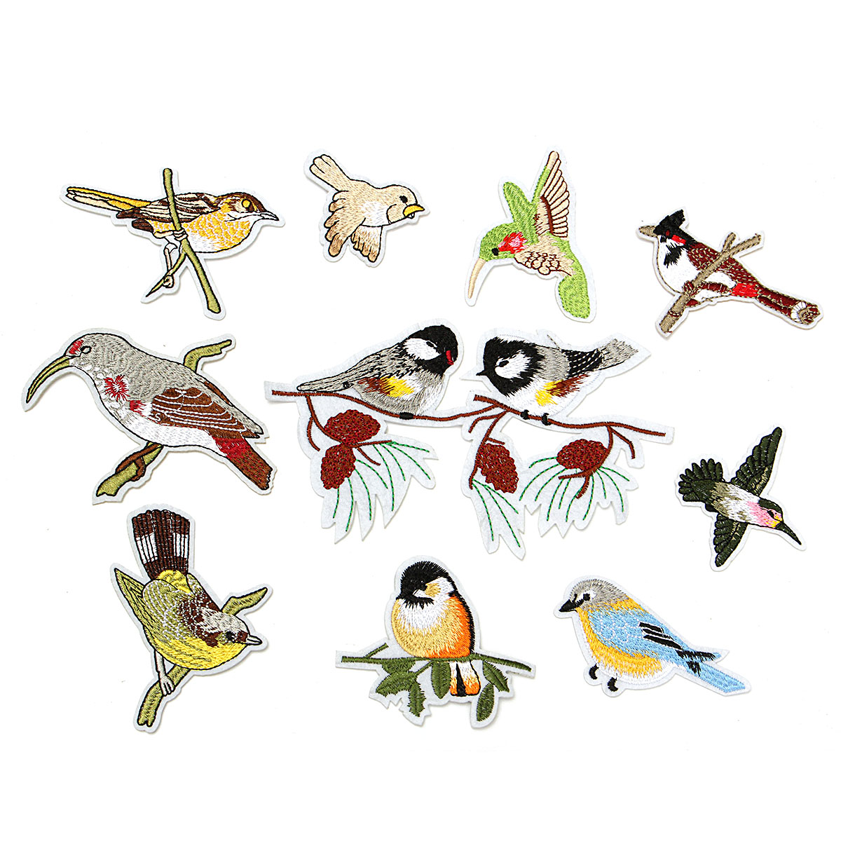 Various birds Sewing Patch Embroidery Fabric Applique Trim Badge DIY Decorate