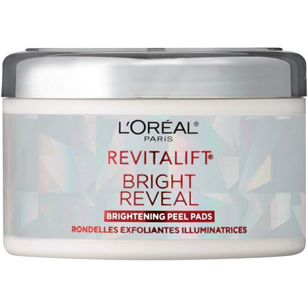 Exfoliating Facial Pads by L'Oreal Paris, Revitalift Bright Reveal Anti-Aging Peel Pads with Glycolic Acid to Reduce Wrinkles and Brighten Skin,.., By LOreal Paris