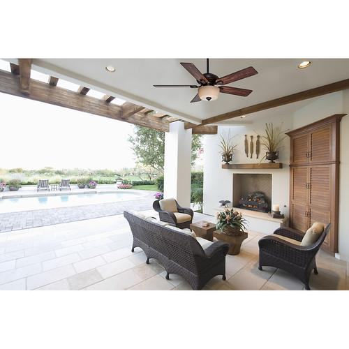 Casablanca 54039 52 in. Utopian Gallery Brushed Cocoa Ceiling Fan with Light with Wall Control