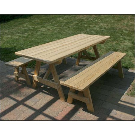 Prime 8 Treated Pine Traditional Picnic Table With 2 Benches Ocoug Best Dining Table And Chair Ideas Images Ocougorg