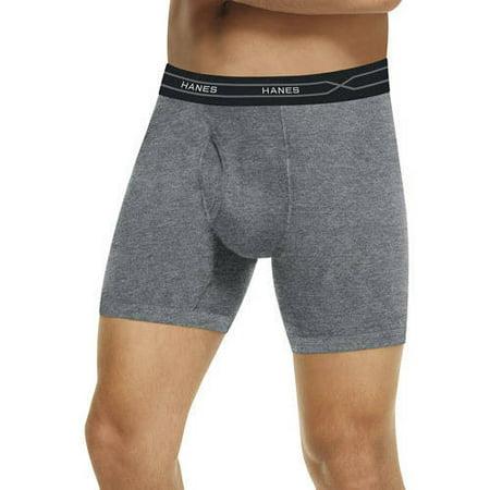 Hanes Big Men's X-Temp Long Leg Boxer Briefs 3-Pack with FreshIQ, 2XL