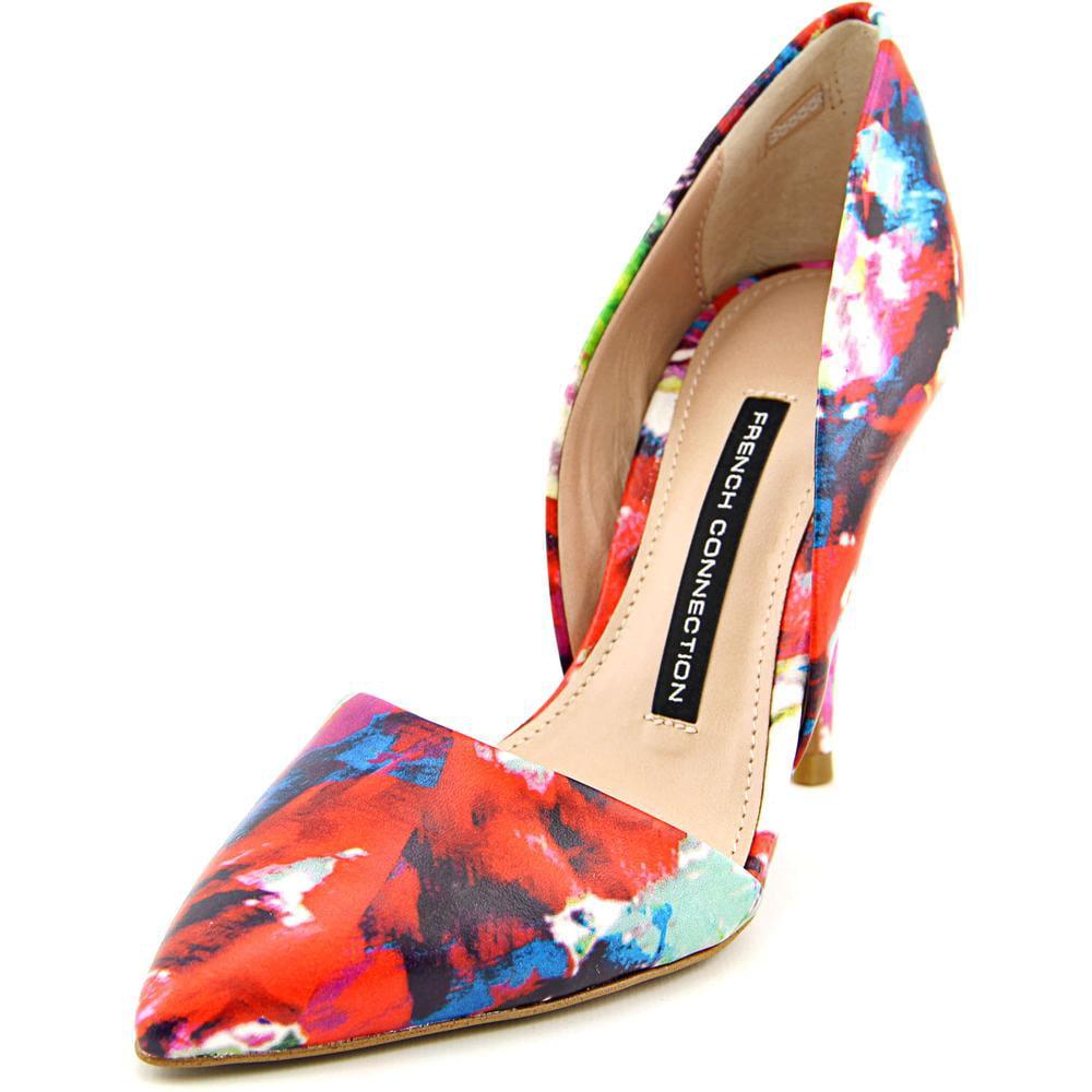 Fcuk Elvia Women  Pointed Toe Leather Multi Color Heels