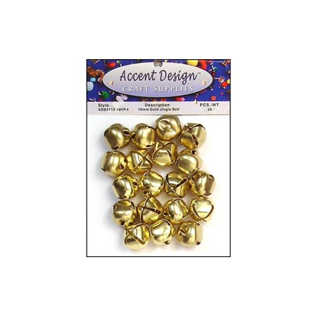 PA Ess Jingle Bell Value Pack 18mm 26pc Gold (6 packs) - Jingle Bells Instrument