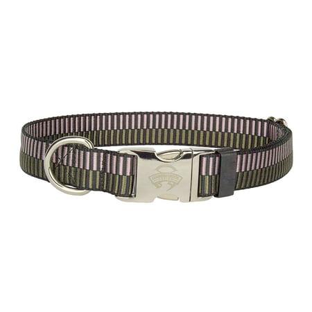 Dot Porcelain (Country Brook Design® Porcelain Earth Regency Stripes Premium Dog Collar - Large )