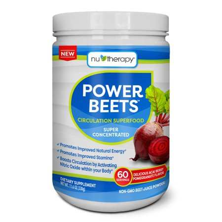 - Nu-Therapy Power Beets Powder, Berry Pomegranate, 11.6 oz, 60 serving