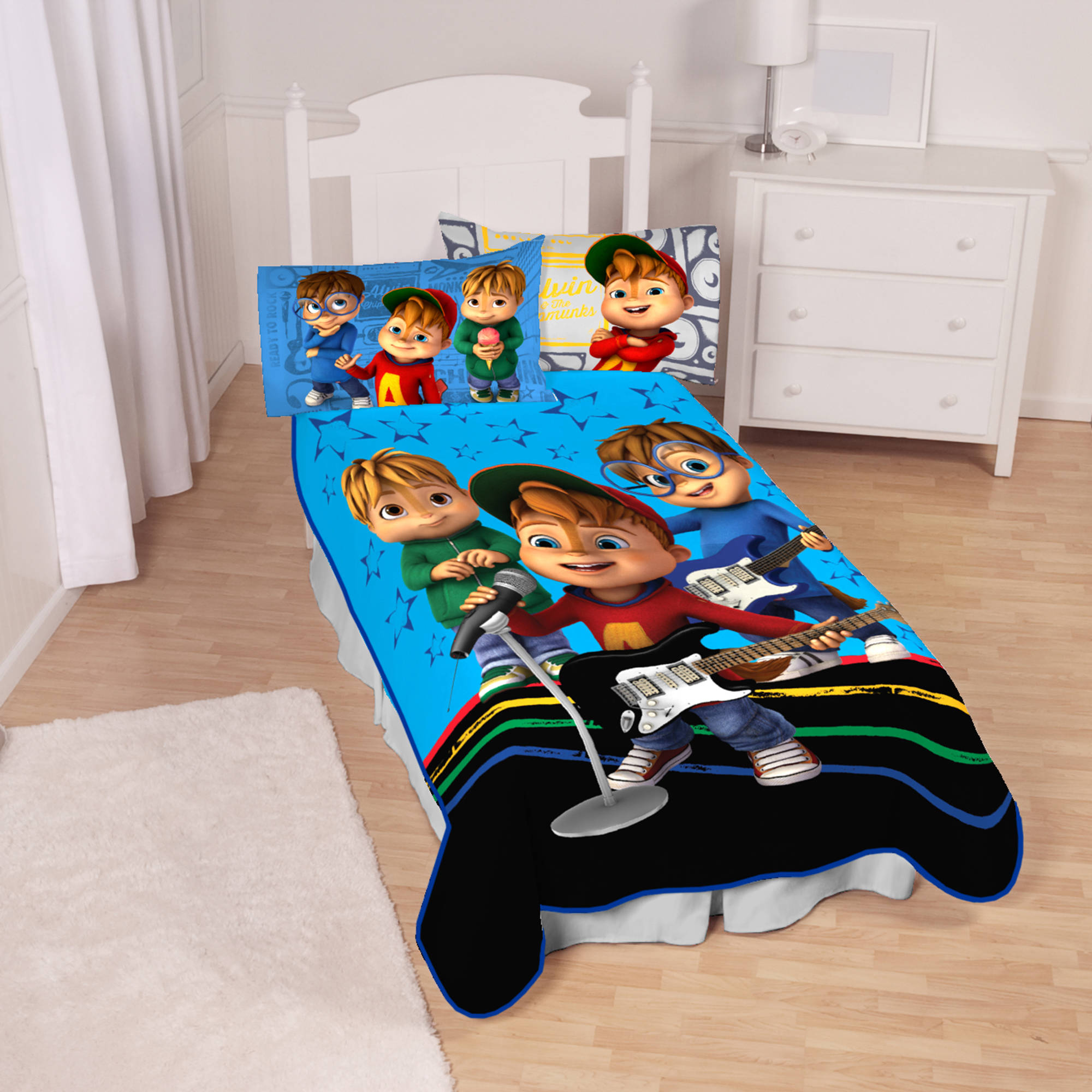 Alvin and the Chipmunks Singing Stars Kids Bedding Blanket
