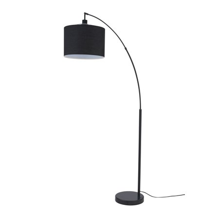 Archiology Beverly Floor Lamp, Standing Pole Light for Bedrooms Living Rooms, Minimalist Design with Black Lampshade and Marble Base